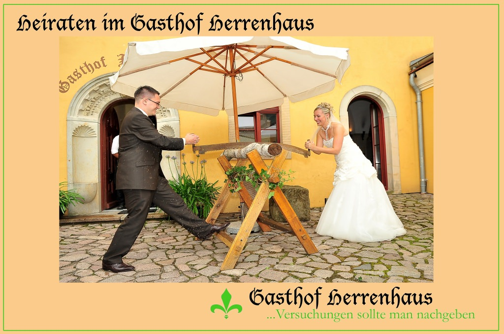 Heiraten nach traditioneller Art im Gastof Herrenhaus Gorbitz